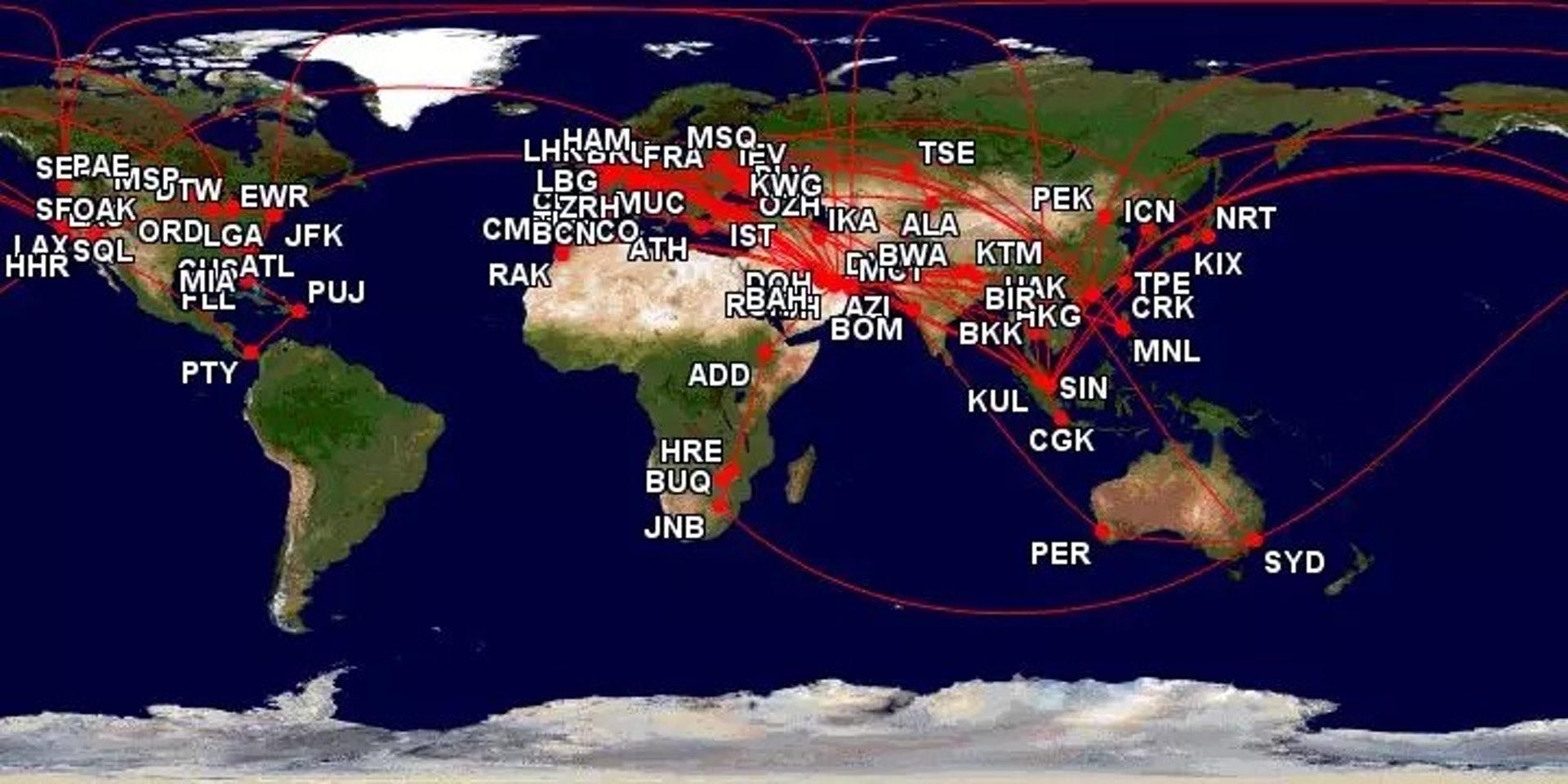 2018年Sam的飛行地圖(一条授權使用)