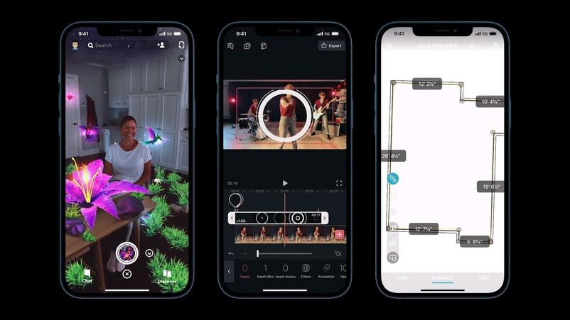 iPhone 12 Pro和iPhone 12 Pro Max加入了LiDar感測器,除了對焦速度,AR和空間測量應用的性能也會提升。