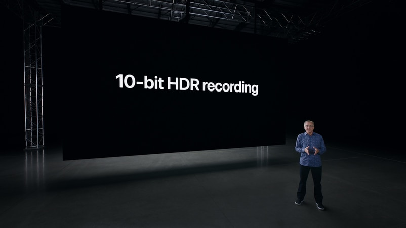 iPhone 12全系列的前後置鏡頭都能做到HDR拍片。